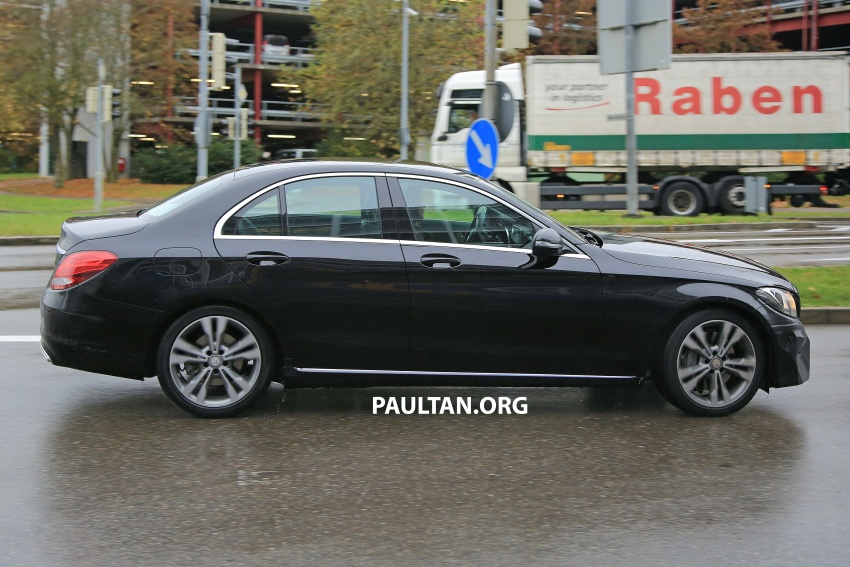 SPIED: W205 Mercedes C-Class facelift – interior seen Image #585291