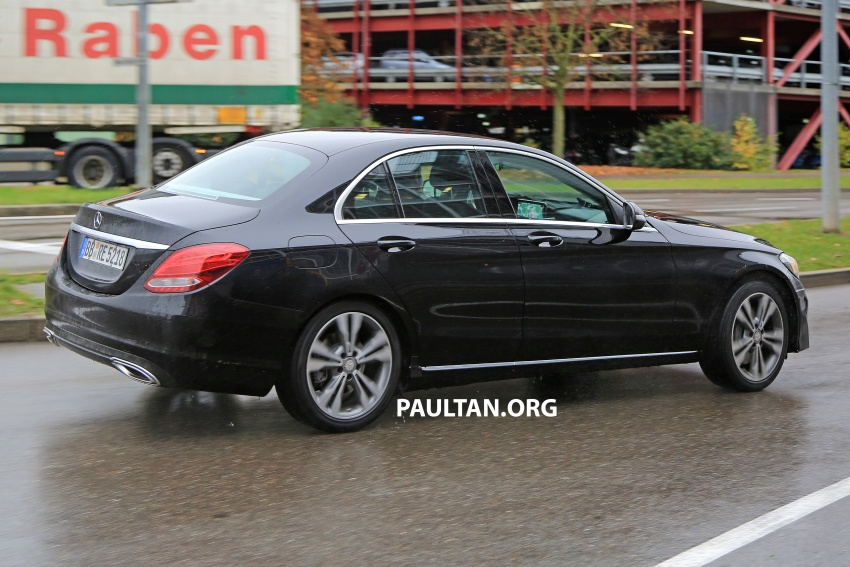SPIED: W205 Mercedes C-Class facelift – interior seen Image #585293