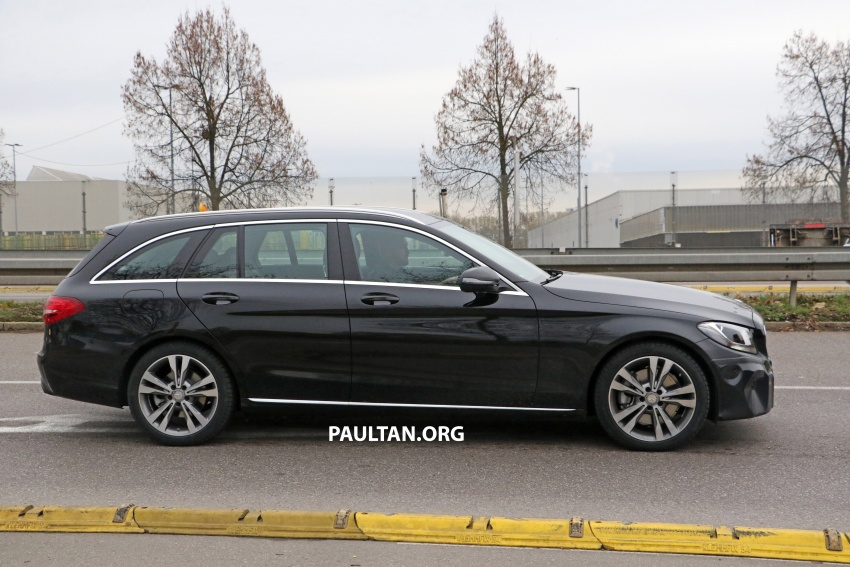 SPIED: W205 Mercedes C-Class facelift – interior seen Image #585276