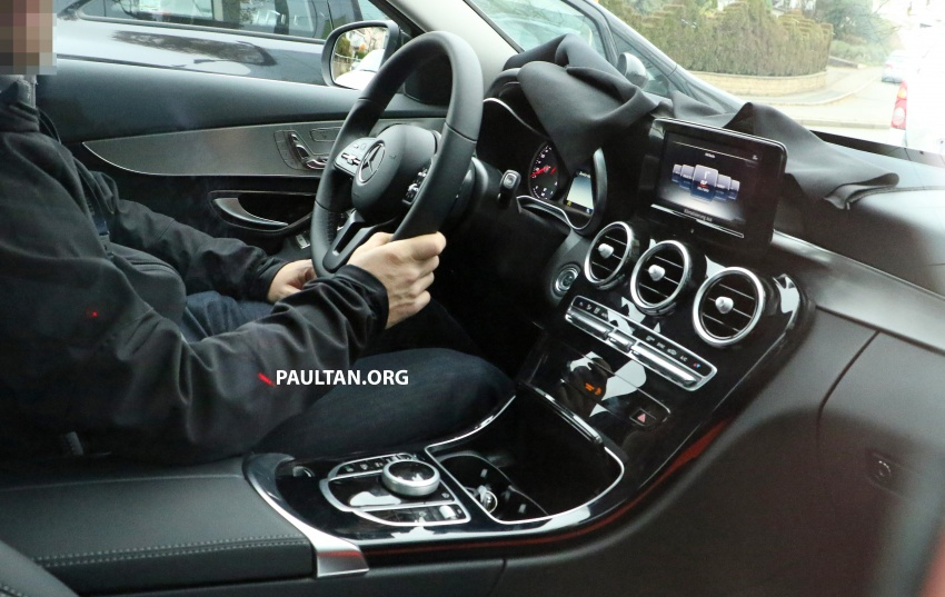 SPIED: W205 Mercedes C-Class facelift – interior seen Image #585278