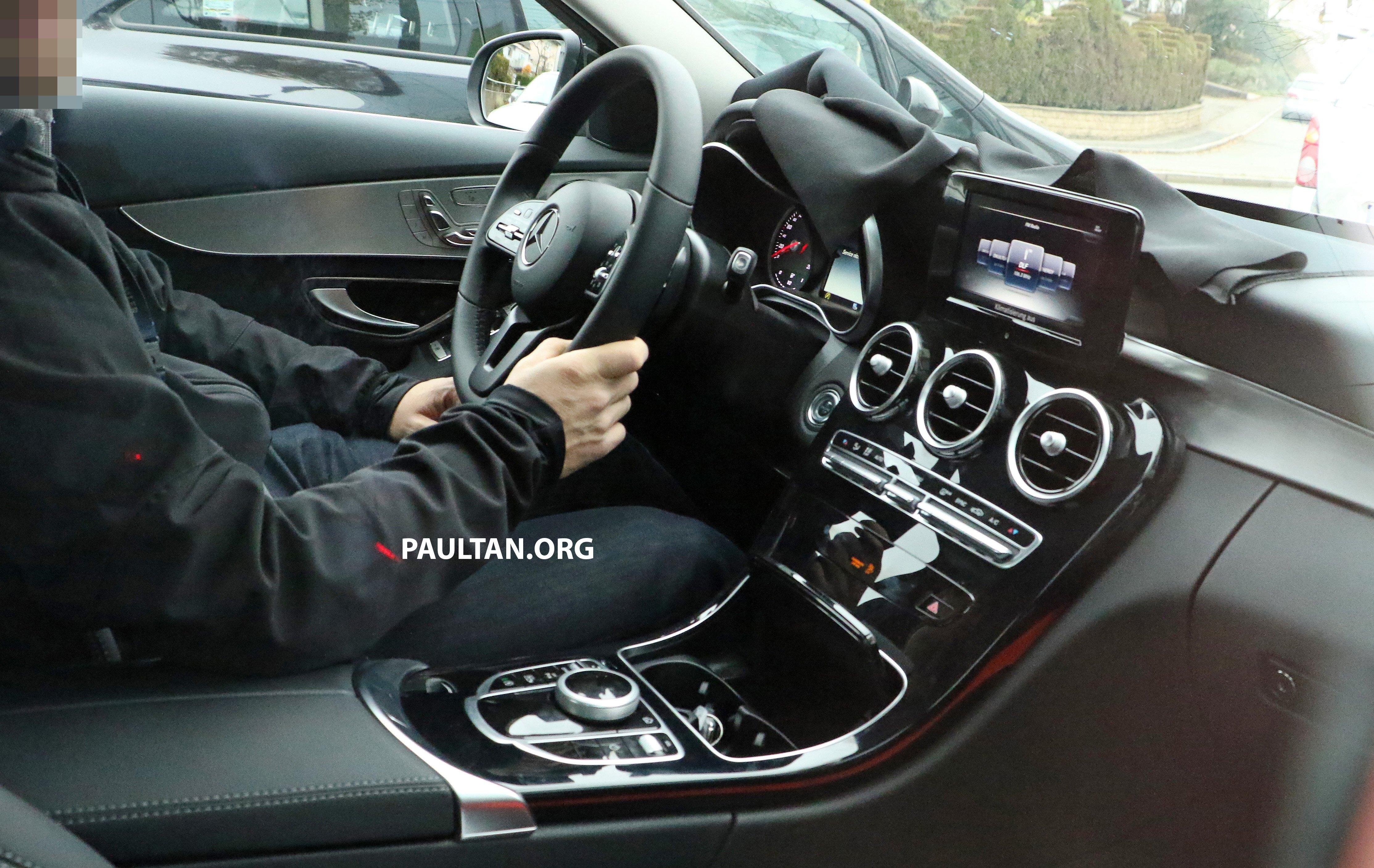 Spied W205 Mercedes C Class Facelift Interior Seen