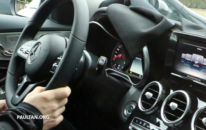 SPIED: W205 Mercedes C-Class facelift – interior seen Image #585279