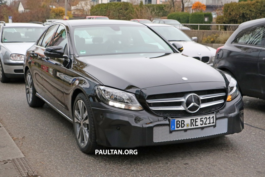 SPIED: W205 Mercedes C-Class facelift – interior seen Image #585280