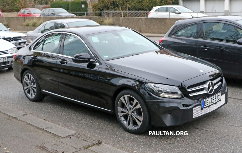 SPIED: W205 Mercedes C-Class facelift – interior seen Image #585281