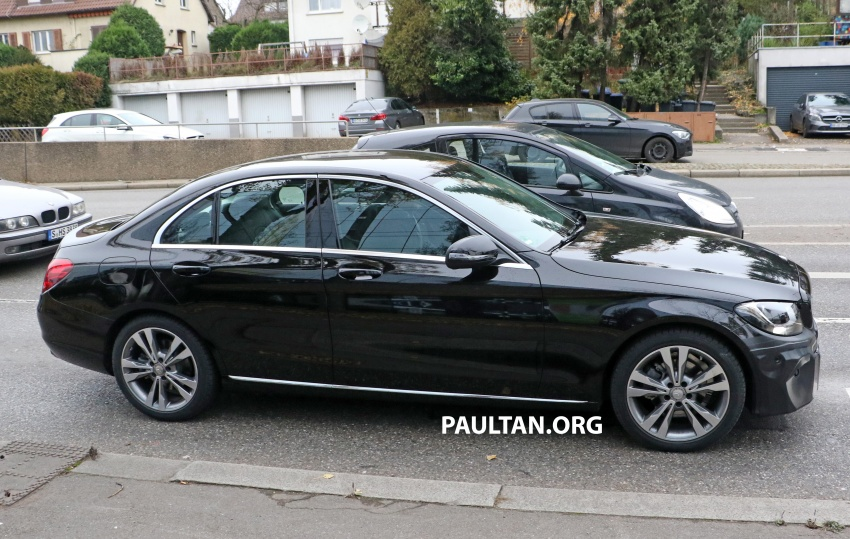 SPIED: W205 Mercedes C-Class facelift – interior seen Image #585282