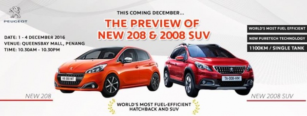 Peugeot 208 and 2008 facelifts on preview in Malaysia next month ...