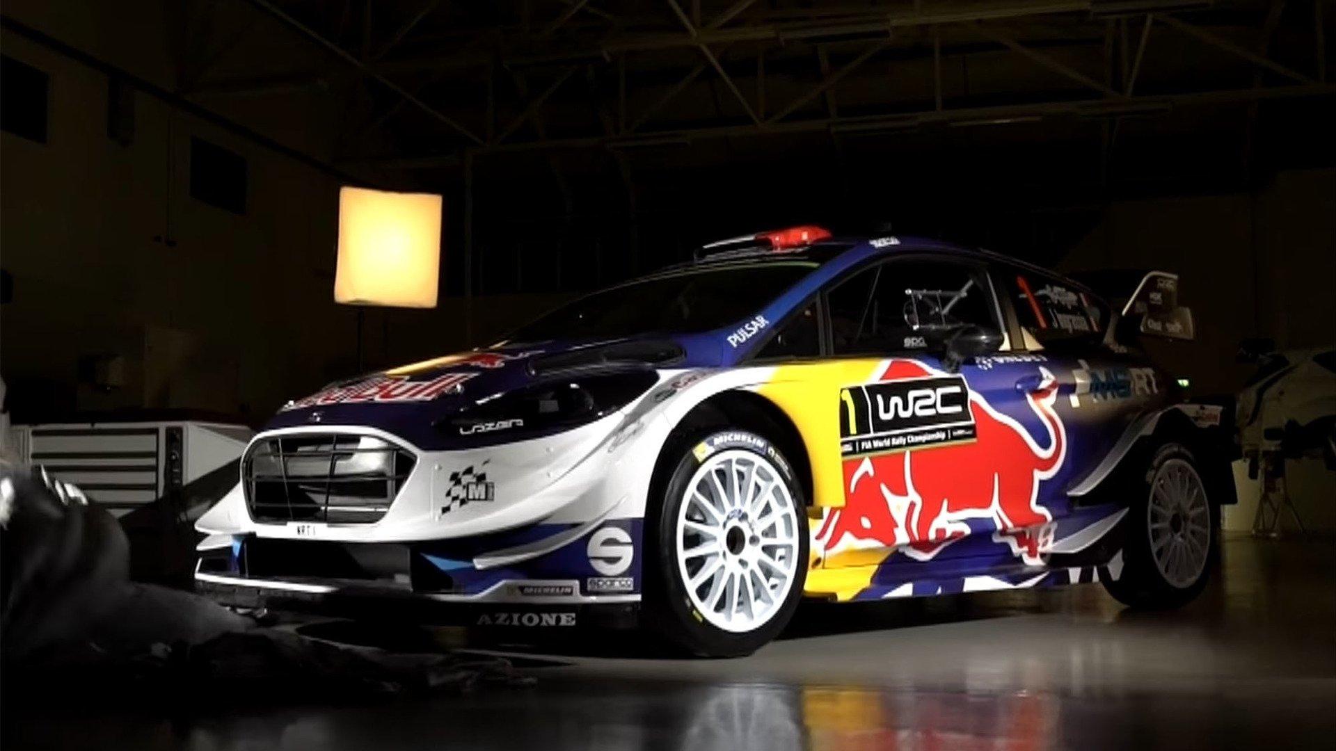 Ford Fiesta Wrc 2018 >> VIDEO: 'Livery' perlumbaan Ford Fiesta WRC 2017 didedahkan – Red Bull Racing untuk Sebastien ...
