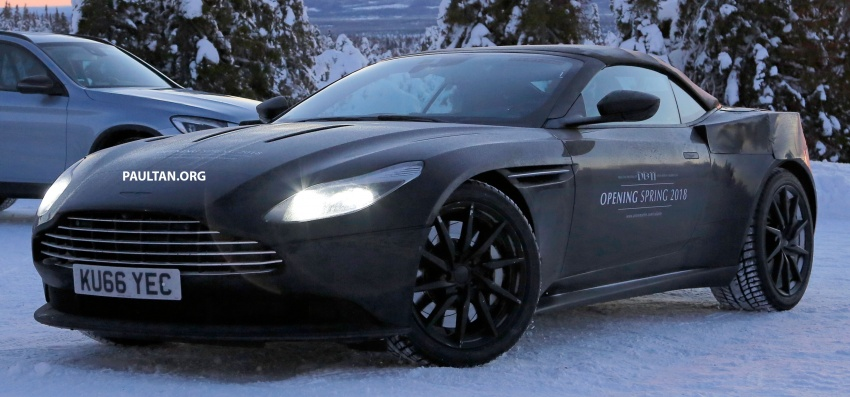 SPIED: Aston Martin DB11 Volante goes winter testing Image #597068