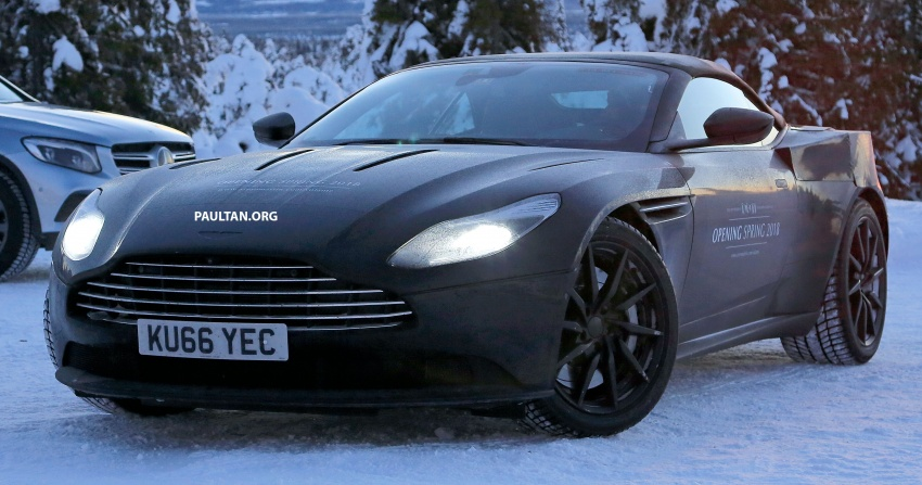 SPIED: Aston Martin DB11 Volante goes winter testing Image #597069