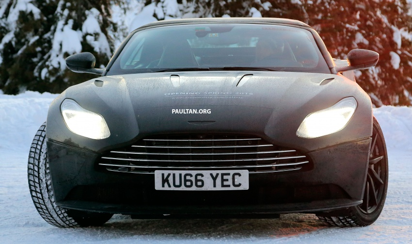 SPIED: Aston Martin DB11 Volante goes winter testing Image #597071