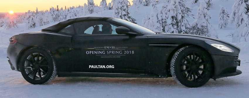 SPIED: Aston Martin DB11 Volante goes winter testing Image #597072