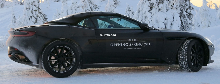 SPIED: Aston Martin DB11 Volante goes winter testing Image #597073