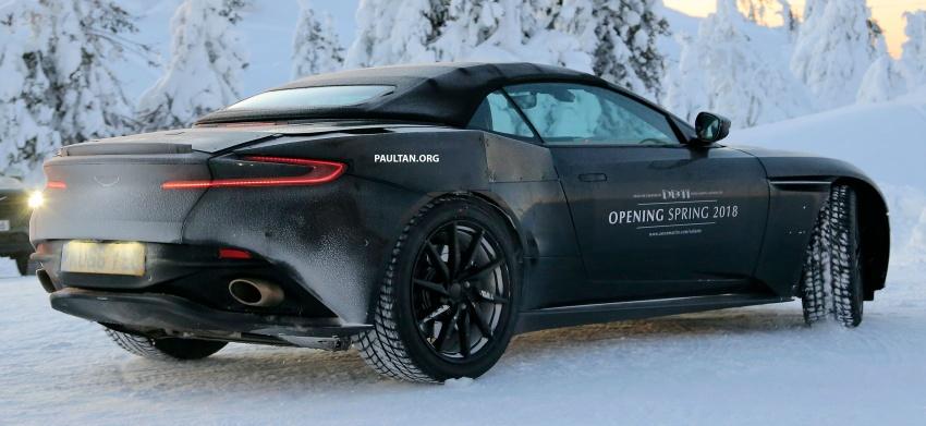 SPIED: Aston Martin DB11 Volante goes winter testing Image #597074