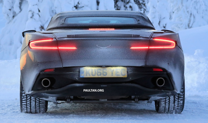 SPIED: Aston Martin DB11 Volante goes winter testing Image #597076