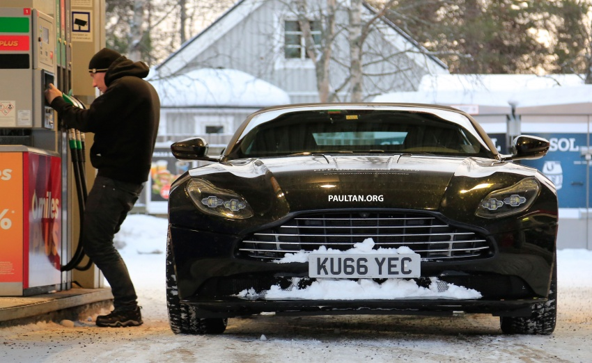 SPIED: Aston Martin DB11 Volante goes winter testing Image #597078