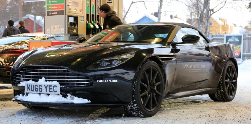 SPIED: Aston Martin DB11 Volante goes winter testing Image #597079