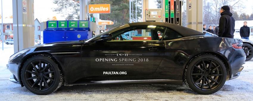 SPIED: Aston Martin DB11 Volante goes winter testing Image #597080