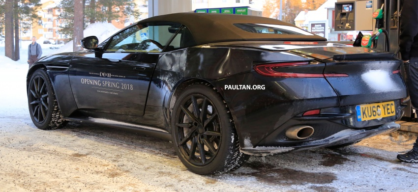 SPIED: Aston Martin DB11 Volante goes winter testing Image #597081