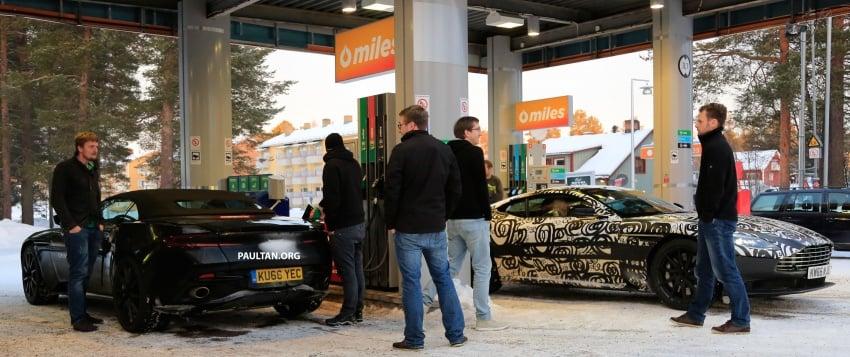 SPIED: Aston Martin DB11 Volante goes winter testing Image #597082
