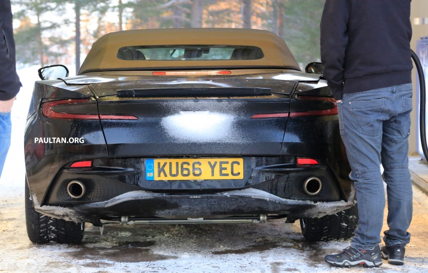 SPIED: Aston Martin DB11 Volante goes winter testing Image #597083