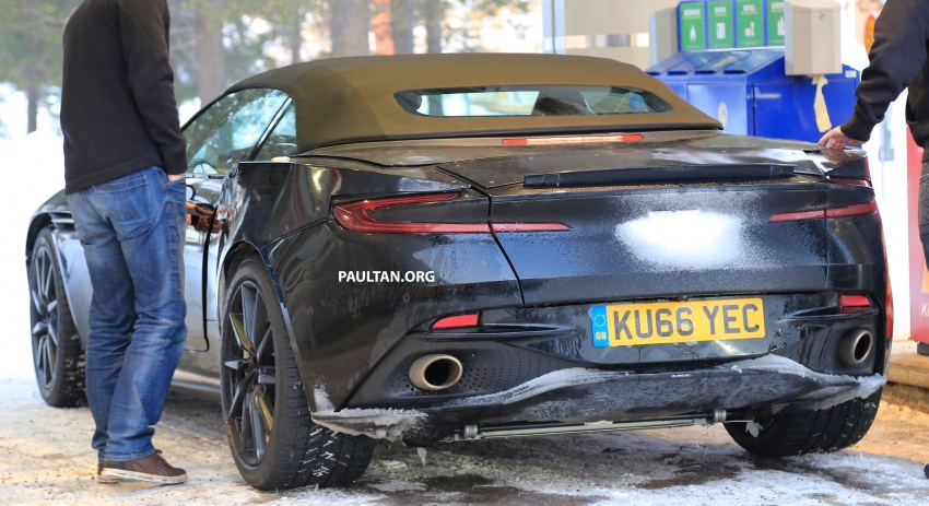 SPIED: Aston Martin DB11 Volante goes winter testing Image #597084