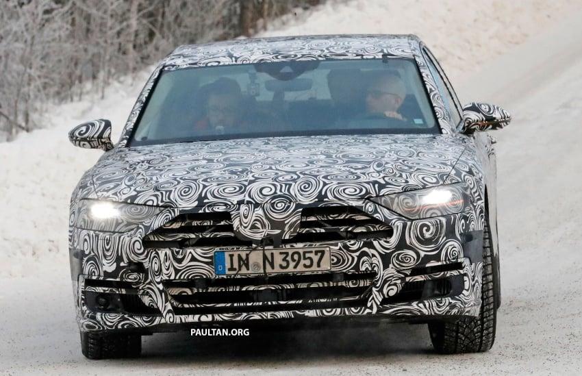SPYSHOTS: Next Audi A8 goes winter testing Image #596314