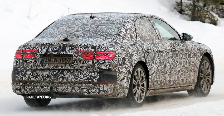 SPYSHOTS: Next Audi A8 goes winter testing Image #596323