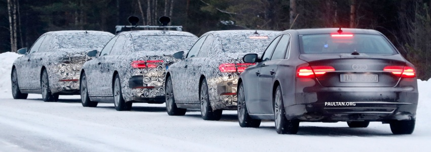 SPYSHOTS: Next Audi A8 goes winter testing Image #596325