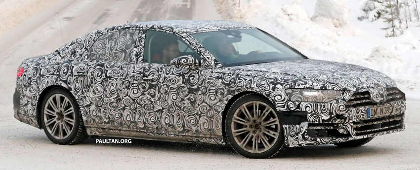 SPYSHOTS: Next Audi A8 goes winter testing Image #596317