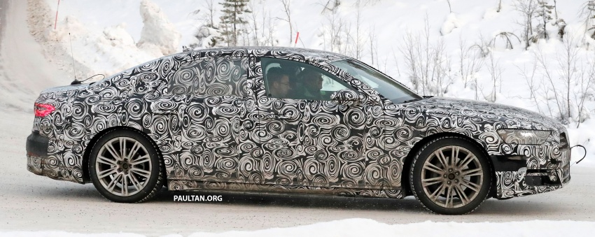 SPYSHOTS: Next Audi A8 goes winter testing Image #596318