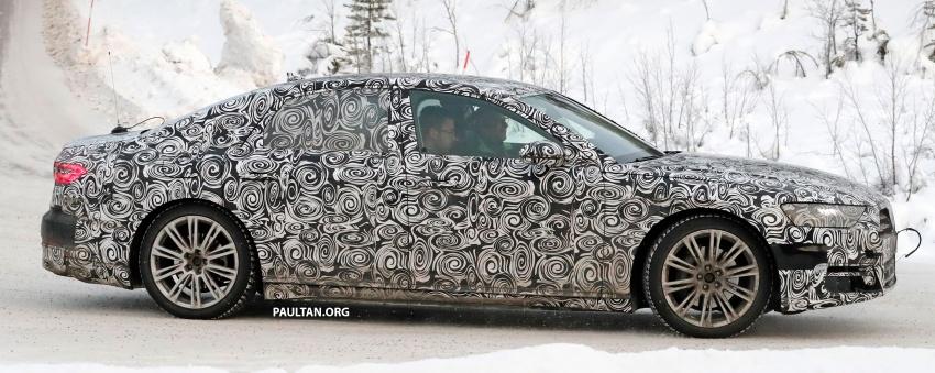 SPYSHOTS: Next Audi A8 goes winter testing Image #596318