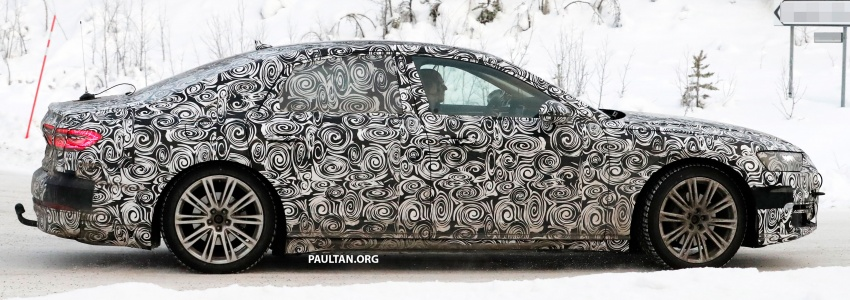 SPYSHOTS: Next Audi A8 goes winter testing Image #596319