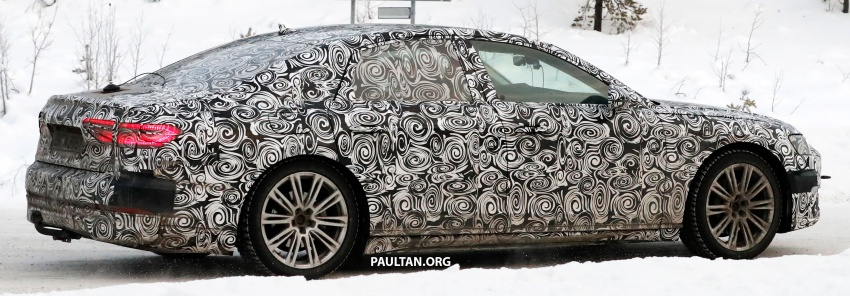SPYSHOTS: Next Audi A8 goes winter testing Image #596320