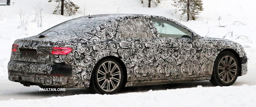 SPYSHOTS: Next Audi A8 goes winter testing Image #596321