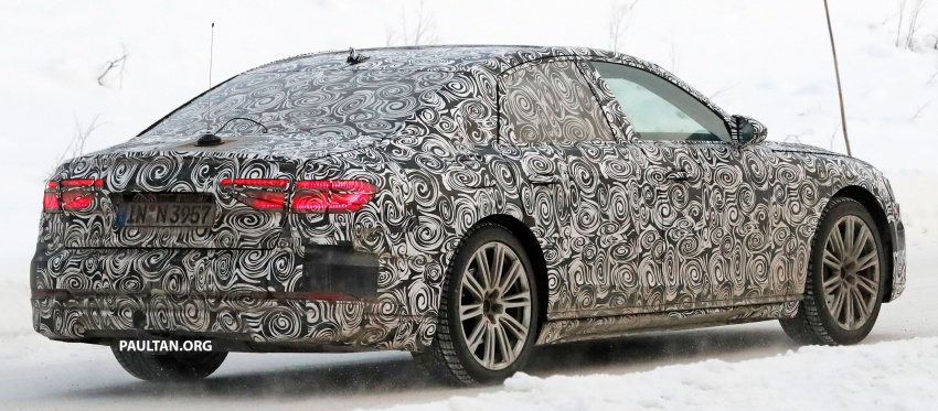 SPYSHOTS: Next Audi A8 goes winter testing Image #596322