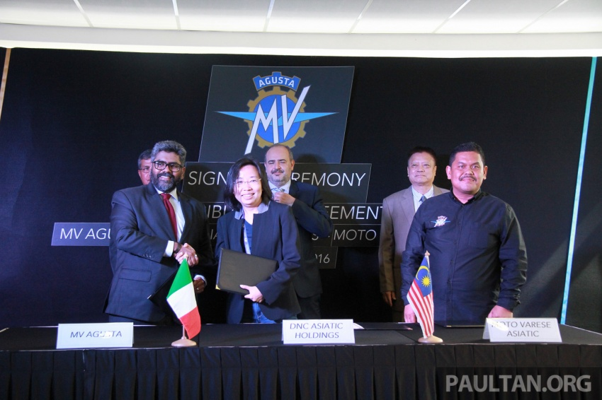 MV Agusta and DNC Asiatic Holdings sign Malaysian motorcycle assembly and distribution agreement Image #589224