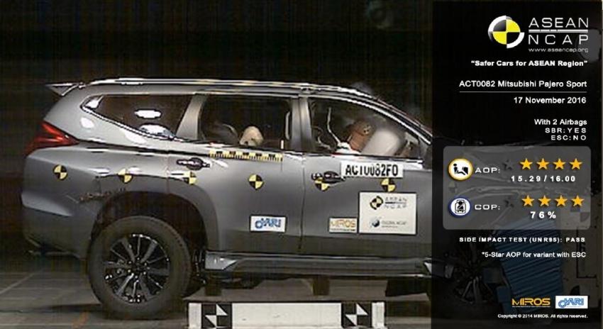 ASEAN NCAP – Proton Ertiga 4-bintang; Hyundai Elantra, Mitsubishi Pajero Sport terima 5-bintang Image #593726