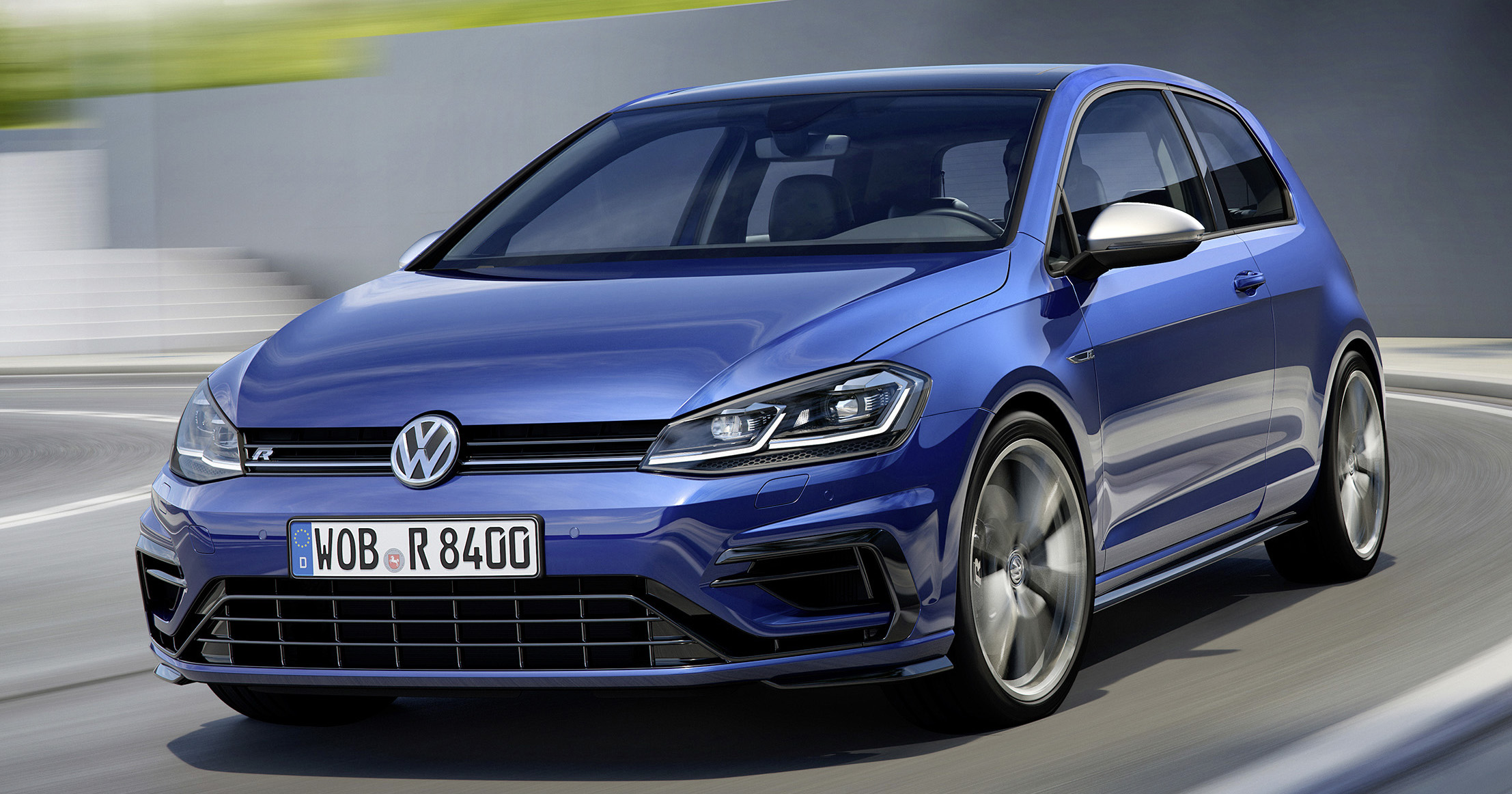 volkswagen golf r facelift new looks more power. Black Bedroom Furniture Sets. Home Design Ideas