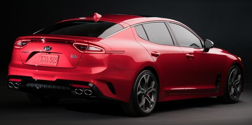 Kia Stinger 2018 didedahkan – model produksi sebenar kereta sport empat-pintu dari konsep Kia GT Image #600267