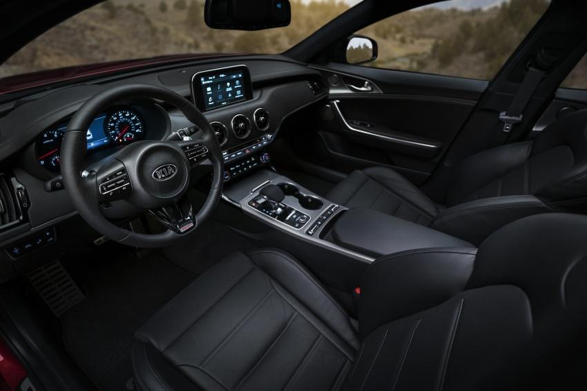 Kia Stinger 2018 didedahkan – model produksi sebenar kereta sport empat-pintu dari konsep Kia GT Image #600301