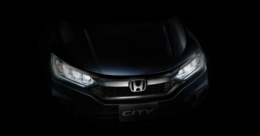 Honda City 2017 facelift tayang teaser hadapan pula Image #599273