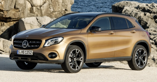 2017 Mercedes-Benz GLA facelift debuts in Detroit