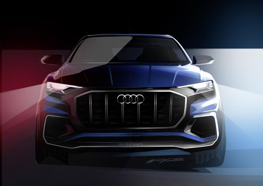 Audi Q8 concept debuts in Detroit – 448 hp plug-in hybrid, 0-100 km/h in 5.4 seconds, 1,000 km range Image #601374