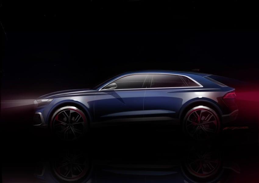 Audi Q8 concept debuts in Detroit – 448 hp plug-in hybrid, 0-100 km/h in 5.4 seconds, 1,000 km range Image #601377