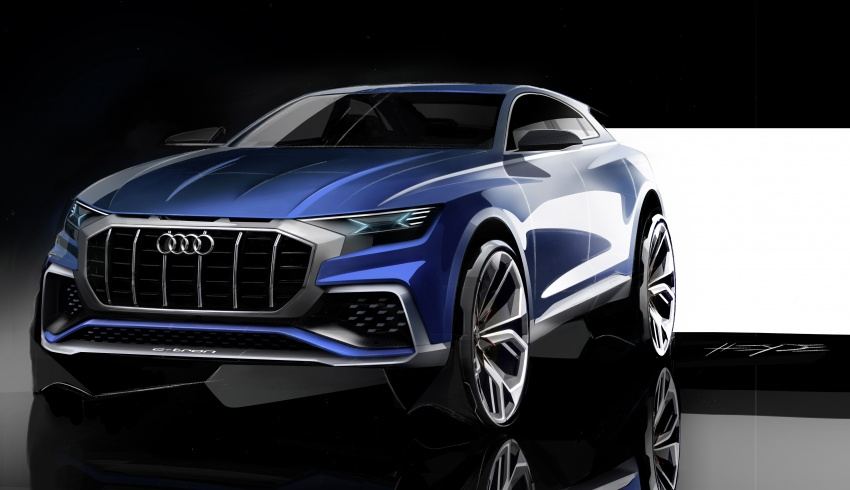 Audi Q8 concept debuts in Detroit – 448 hp plug-in hybrid, 0-100 km/h in 5.4 seconds, 1,000 km range Image #601198