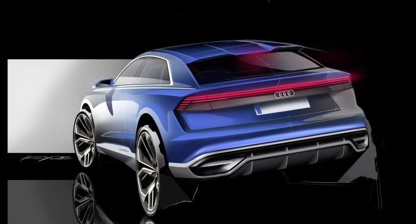 Audi Q8 concept debuts in Detroit – 448 hp plug-in hybrid, 0-100 km/h in 5.4 seconds, 1,000 km range Image #601199