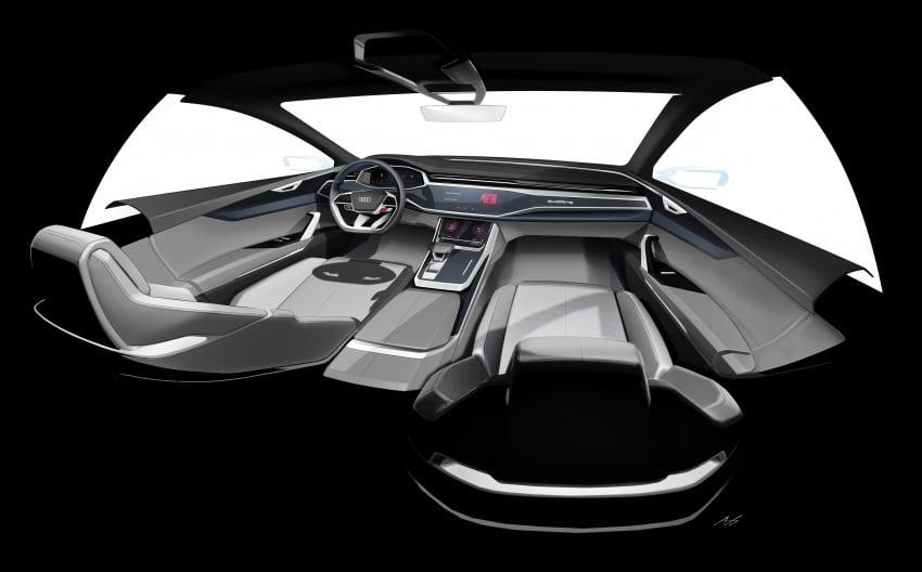 Audi Q8 concept debuts in Detroit – 448 hp plug-in hybrid, 0-100 km/h in 5.4 seconds, 1,000 km range Image #601226