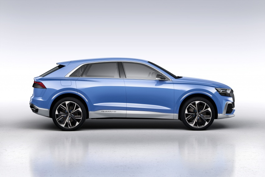Audi Q8 concept debuts in Detroit – 448 hp plug-in hybrid, 0-100 km/h in 5.4 seconds, 1,000 km range Image #601278