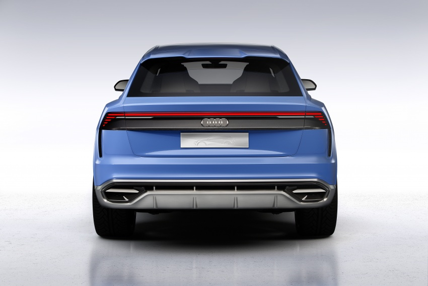 Audi Q8 concept debuts in Detroit – 448 hp plug-in hybrid, 0-100 km/h in 5.4 seconds, 1,000 km range Image #601280
