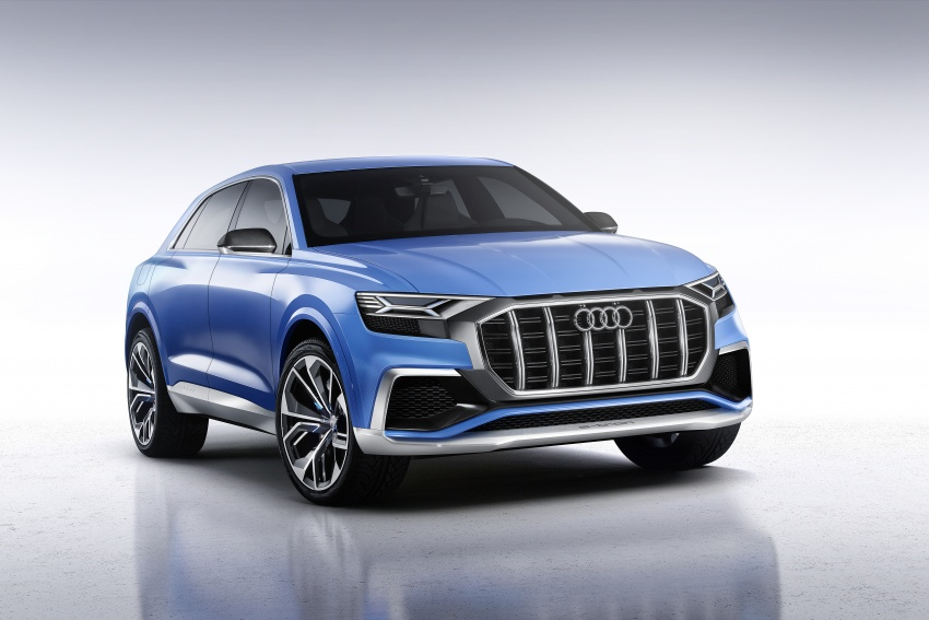 Audi Q8 concept debuts in Detroit – 448 hp plug-in hybrid, 0-100 km/h in 5.4 seconds, 1,000 km range Image #601284